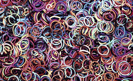 Abstract background with colourful rings Royalty Free Stock Images