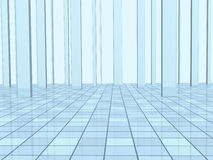 Abstract background with columns and a tiled floor Stock Image