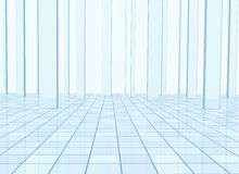 Abstract background with columns and a tiled floor. Abstract blue background with columns and a tiled floor Royalty Free Stock Photography