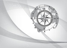Abstract background with compass. Vector illustration Royalty Free Stock Photos
