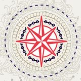 Abstract  background with compass icon. In vintage style Royalty Free Stock Photography