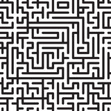 Abstract background with complex maze. Black-and-white abstract background with complex maze. Seamless pattern. Vector illustration royalty free illustration