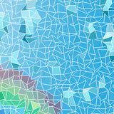 Abstract background, composed of blue sea and green bricks. Different shades Royalty Free Stock Photos