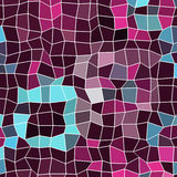 Abstract background, composed of blue sea and purple, lilac bricks. Different shades Royalty Free Stock Images