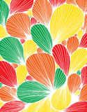 Abstract background is composed of colored petals of flowers. Vector Royalty Free Stock Photos