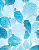 Abstract background is composed of colored petals of flowers. Vector royalty free illustration