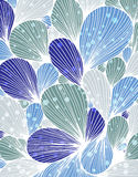 Abstract background is composed of colored petals of flowers. Vector Royalty Free Stock Photo