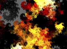 abstract background composed of fractal shapes and colors on int Stock Photos