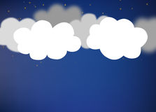 Abstract background composed of white paper clouds. Abstract background composed of white paper clouds over blue Stock Photography