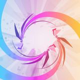 Abstract background, colorful elements. Stock Image
