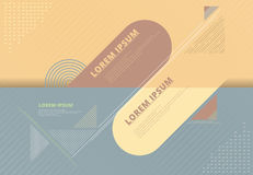 Abstract background composition elements template geomertic line. S semicircle rounded for artwork, print, ad, magazine, poster, flyer, leaflet, brochure, book Royalty Free Stock Images
