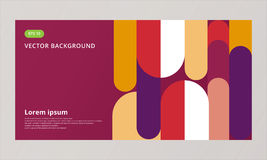 Abstract background composition elements template geomertic roun. Ded for artwork, print, ad, magazine, poster, flyer, leaflet, brochure, book, Vector stock illustration