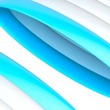 Abstract background composition. Of glossy white and blue band strips over the white background Royalty Free Stock Photography