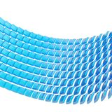 Abstract background composition. Made of blue glossy bent square blocks against the white background stock illustration