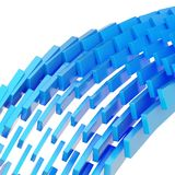Abstract background composition. Made of blue glossy blocks over white background Royalty Free Illustration
