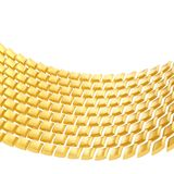 Abstract background composition. Made of glossy golden bent square blocks against the white background vector illustration