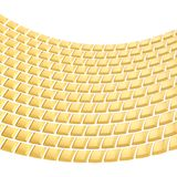 Abstract background composition. Made of glossy golden bent square blocks against the white background stock illustration