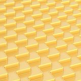 Abstract background composition. Made of golden wavy dimensional plates Stock Image
