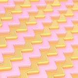 Abstract background composition. Made of light pink and golden wavy dimensional plates Royalty Free Stock Images