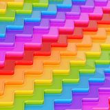 Abstract background composition. Made of rainbow colored wavy dimensional plates Stock Image