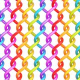 Abstract background composition. Multiple twisted rainbow colored tubes over the white background forming an abstract background composition stock illustration