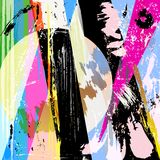 Abstract background composition. With paint strokes and splashes royalty free illustration