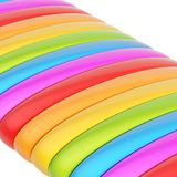 Abstract background composition. Of rainbow colored glossy band strips Royalty Free Stock Image