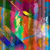 Abstract background composition. With strokes, splashes and stripes Vector Illustration