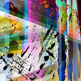 Abstract background composition. With strokes, splashes and stripes Royalty Free Illustration