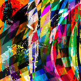 Abstract background composition. With strokes, splashes, stripes, triangles and squares Royalty Free Illustration