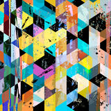 Abstract background composition. With strokes, splashes, stripes, triangles and squares Vector Illustration