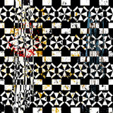 Abstract background composition, with strokes, splashes and tria. Ngles, black and white Royalty Free Stock Image