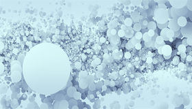 Abstract background is comprised of a plurality of circles. Art Royalty Free Illustration