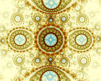 Abstract background - computer-generated image. Fractal art: intricate ornament of curls and spheres. For banners, posters, web design Stock Images