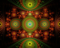 Abstract background - computer-generated image. Fractal art: intricate ornament of curls and spheres. For banners, posters, web design Royalty Free Stock Image