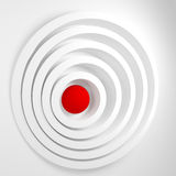 Abstract background with concentric circles and the ball in the Stock Photography