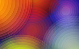Abstract Background. With concentric circles of rainbow colors desktop royalty free illustration