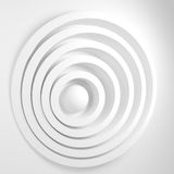 Abstract background with concentric circles and th. E ball in the center. The concept of the central business ideas Stock Image