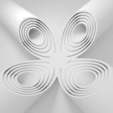 Abstract background with concentric circles, tubes. Stock Photo
