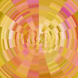 Abstract background with concentric circles in warm colors - yellow, pink, ocher, modern pixel design Stock Images
