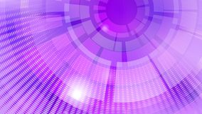 Abstract background of concentric circular elements. And halftone dots in purple colors royalty free illustration