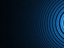 Abstract background. Concentric curves. Abstract fractal background of blue concentric curves gradienting to the left over black Royalty Free Stock Photo