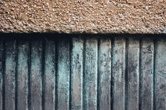 Abstract background concrete beams old and shabby Stock Photography