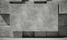 Abstract background of the concrete, 3d illustration Stock Photos
