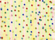 Abstract background with confetti. For holiday invitations or greetings Stock Image