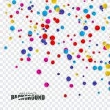 Abstract background with confetti. Colorful circles are falling.Abstract background with confetti Stock Image
