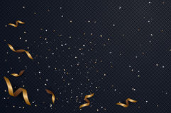Abstract background with confetti gold and black colors place f. Or text.vector illustration Royalty Free Stock Images
