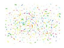 Multicolor hexagonal shape confetti futuristic. vector illustration