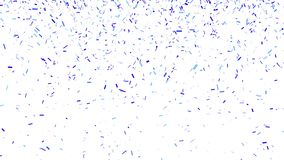 Abstract background with Confetti Particles Simulation Blue Color on White Background. 4K Abstract Background with Amazing Confetti Particles Simulation on Black royalty free illustration