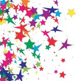 Abstract background Confetti with Stars elements. Photo Royalty Free Stock Images